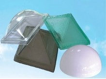 Polycarbonate shield and daylighting shade