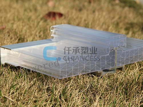 Polycarbonate U-lock X Structure Roofing Sheets