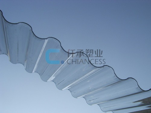 Clear Polycarbonate Wave PC Solid Sheets