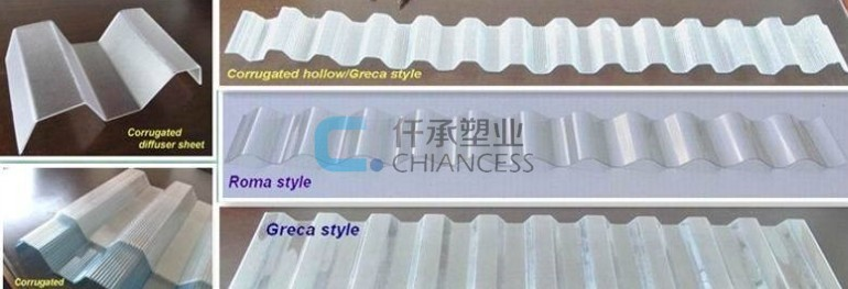 UV protect skylight polycarbonate corrugated roofing